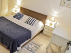 Romantic bedroom with comfortable and quality double bed in house nr. 1.