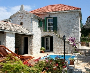 Luxury stone villa on Brac