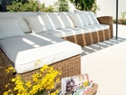 Luxury apartments Viganj  - cosy outdoor couch by the pool