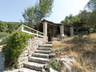 Stone house by the sea - steps leading to the charming vacation house