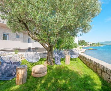 Beachfront chill out apartments Maruna - wonderful Mediterranean garden in front of the house