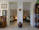 Charming Mediterranean house - entrance to 2 bedrooms with charming details