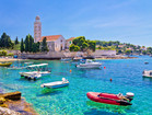 Hvar island and Franciscan monastery