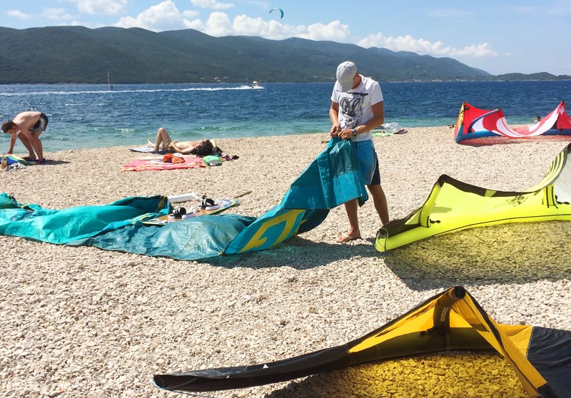 Kiting in Viganj, Croatia